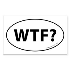 WTF? Auto Sticker -White (Oval) Sticker (Rectangle)