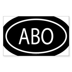 ABO Oval Sticker (Rectangle)