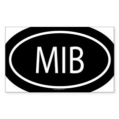 MIB Oval Sticker (Rectangle)