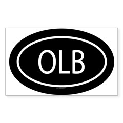 OLB Oval Sticker (Rectangle)