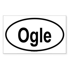 OGLE Oval Sticker (Rectangle)