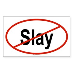 SLAY Oval Sticker (Rectangle)