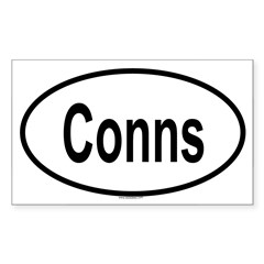 CONNS Oval Sticker (Rectangle)