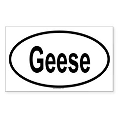 GEESE Oval Sticker (Rectangle)