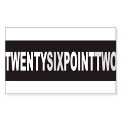 TWENTYSIXPOINTTWO Sticker (Rectangle)