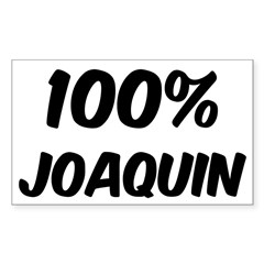 100 Percent Joaquin Sticker (Rectangle)
