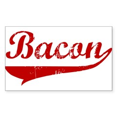 Bacon (red vintage) Sticker (Rectangle)