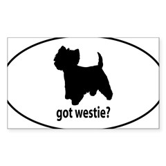 Got Westie? Oval Sticker (Rectangle)