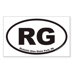 Ricketts Glen State Park RG Euro Oval Sticker (Rectangle)
