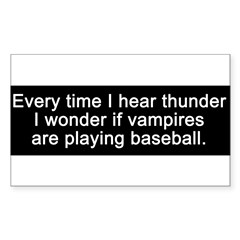 Baseball Vampires Sticker (Rectangle)