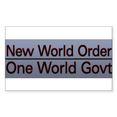 New World Order Truth Sticker (Rectangle)