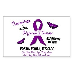 Alzheimers Awareness Month 2.2 Oval Sticker (Rectangle)