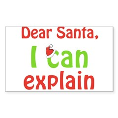 Santa I Can Explain Oval Sticker (Rectangle)
