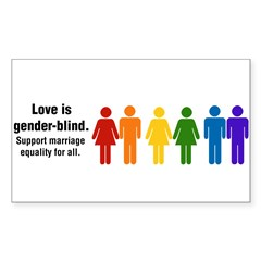 Marriage Equality Sticker (Rectangle)