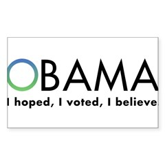 Obama, I believe Sticker (Rectangle)