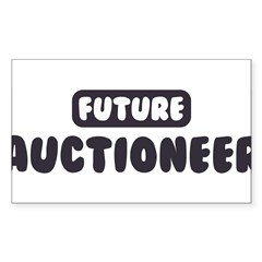 Future Auctioneer Sticker (Rectangle)