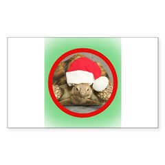 Tortoise, round image Sticker (Rectangle)
