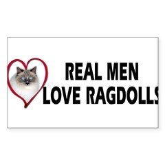 Real Men Love Ragdolls Sticker (Rectangle)