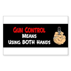 Anti Gun Control Sticker (Rectangle)