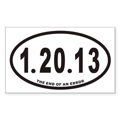 1.20.13 Euro Oval Sticker (Rectangle)