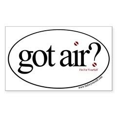 Got Air? Oval Sticker (Rectangle)