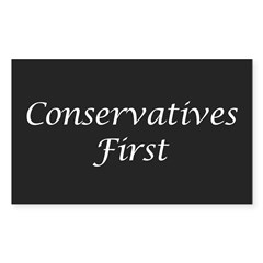 Conservatives First Oval Sticker (Rectangle)