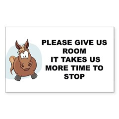 Pugpockets.com- Horse Sticker (Rectangle)