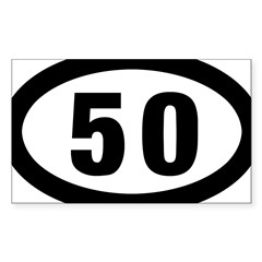 50 mile Ultrarunning Sticker (Rectangle)