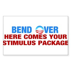Bend Over for Stimulus Package - Sticker (Rectangle)