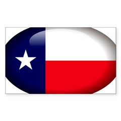 Texas Oval Sticker (Rectangle)