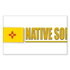 New Mexico Native Son Sticker (Rectangle)