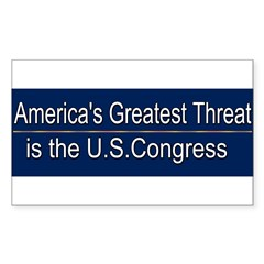 America's Greatest Threat Sticker (Rectangle)