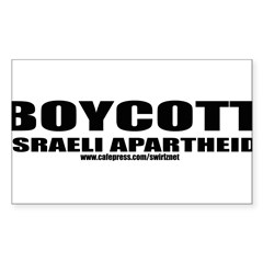 Boycott Apartheid Sticker (Rectangle)