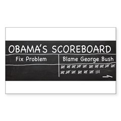Obama Scoreboard Sticker (Rectangle)