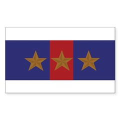 Marine Corps Recruiting 3 star (Bumper) Sticker (Rectangle)