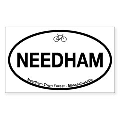 Needham Town Fore Sticker (Rectangle)