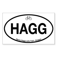 Henry Hagg Lake Trail Sticker (Rectangle)