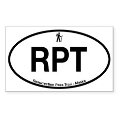Resurrection Pass Trail Sticker (Rectangle)