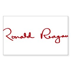 Ronald Reagan Signature Sticker (Rectangle)