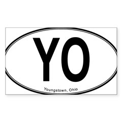 "Youngstown ""YO"" Sticker (Rectangle)"