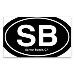 Sunset Beach Sticker (Rectangle)