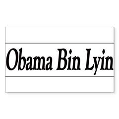Obama Bin Lyin Sticker (Rectangle)
