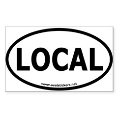 Local Oval Car Sticker (Rectangle)