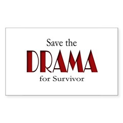 Drama on Survivor Sticker (Rectangle)