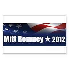 Mitt Romney 2012 Sticker (Rectangle)