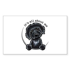 Black Labradoodle IAAM Sticker (Rectangle)