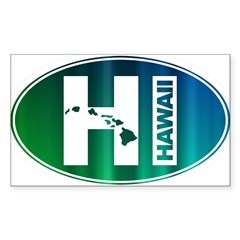 HI Hawaii - Sticker (Rectangle)