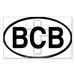 Baker's Chapel Oval Sticker (Rectangle)