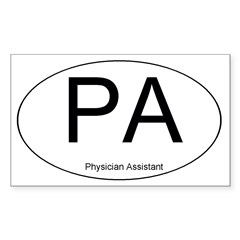 Physician Assistant Oval Sticker (Rectangle)