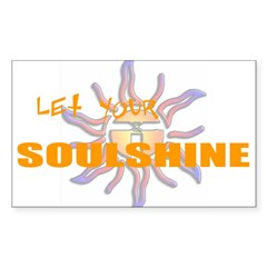 Let Your Soulshine Oval Sticker (Rectangle)